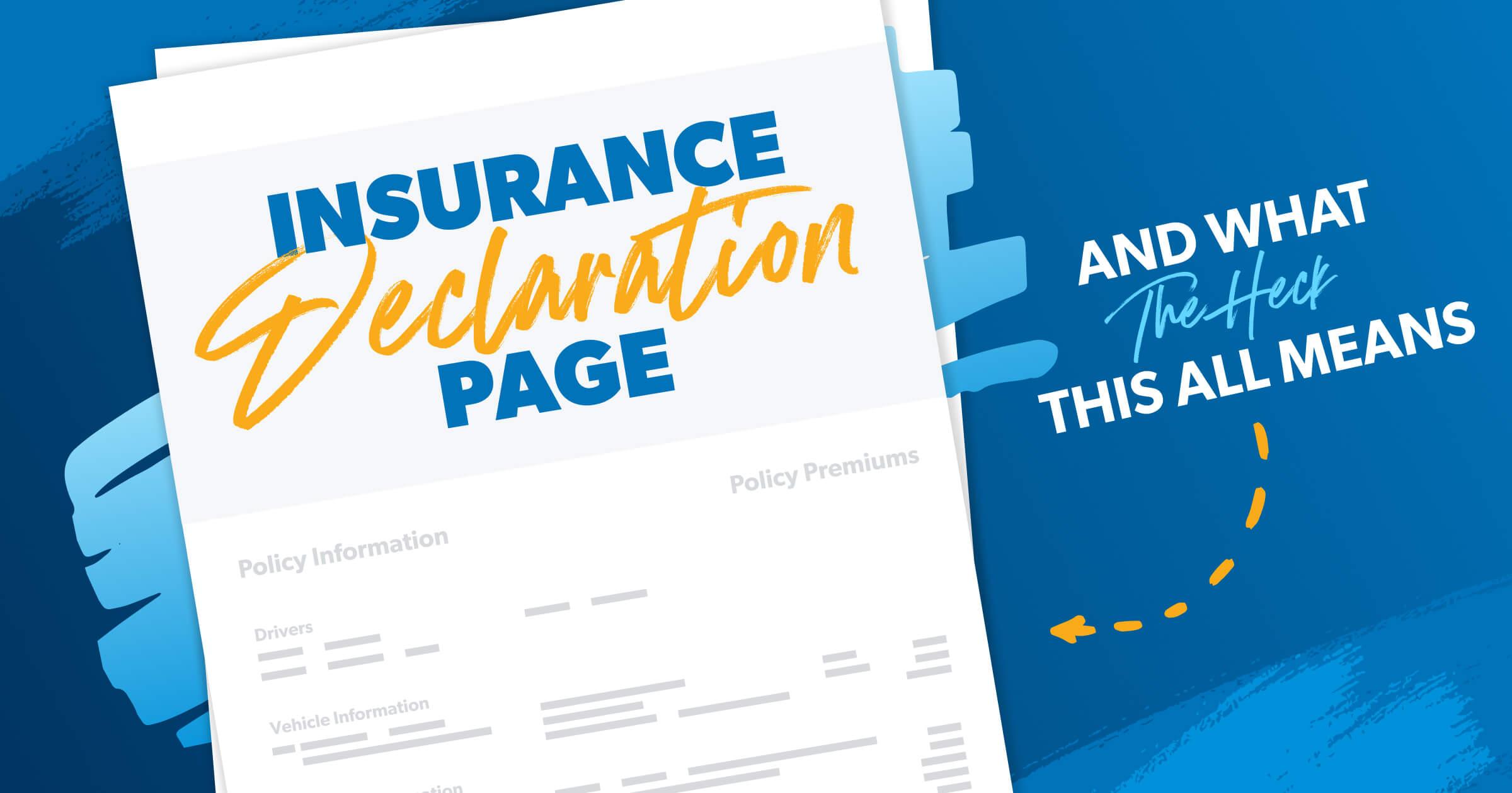 insurance declaration page