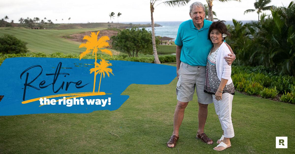 An elderly couple enjoying their post retirement savings.