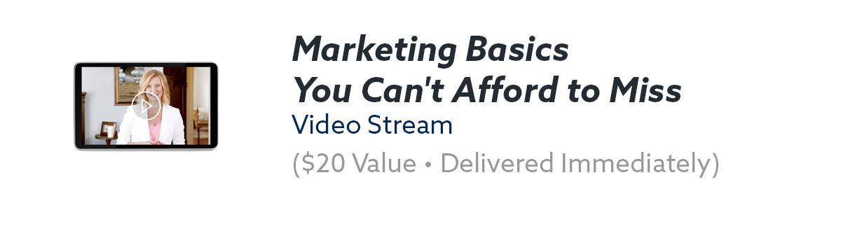 Marketing Basics You Can't Afford to Miss Video Stream