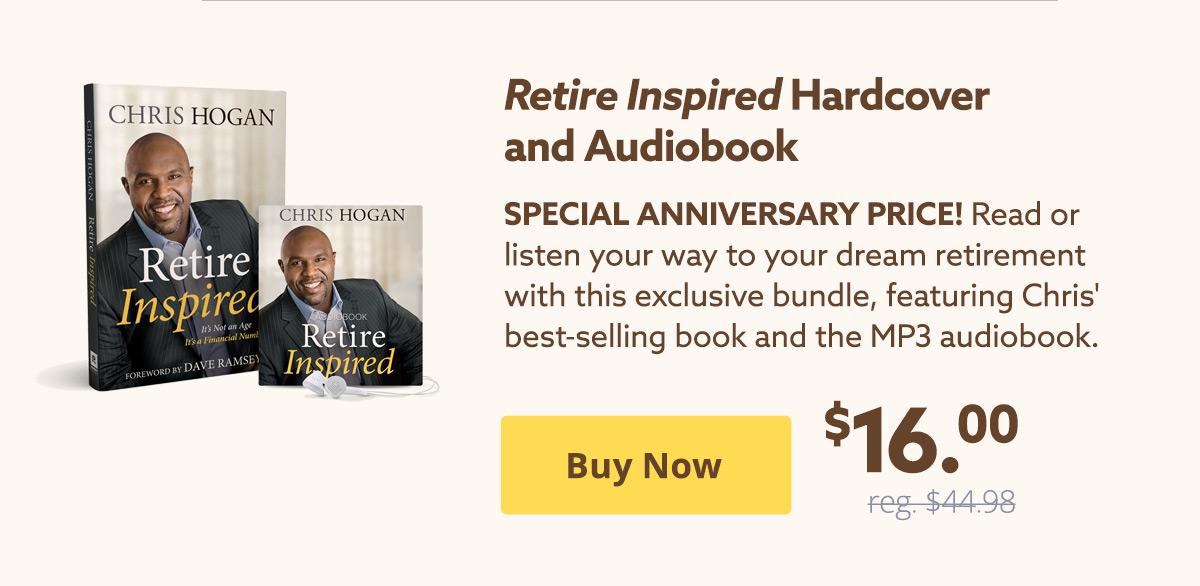 Retire Inspired Hardcover + Audiobook $16 | Buy Now