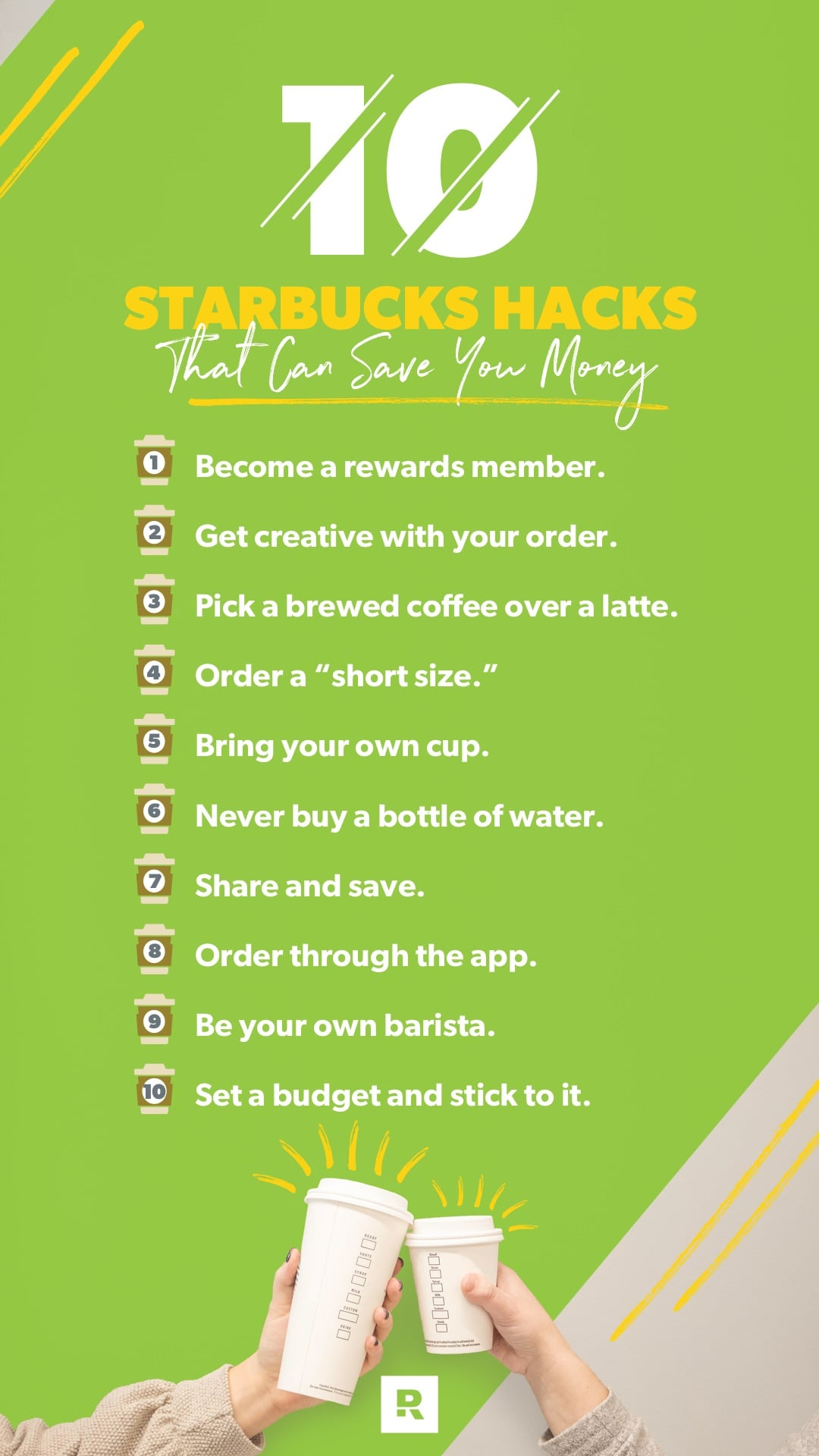 10 Hacks to Save on Starbucks