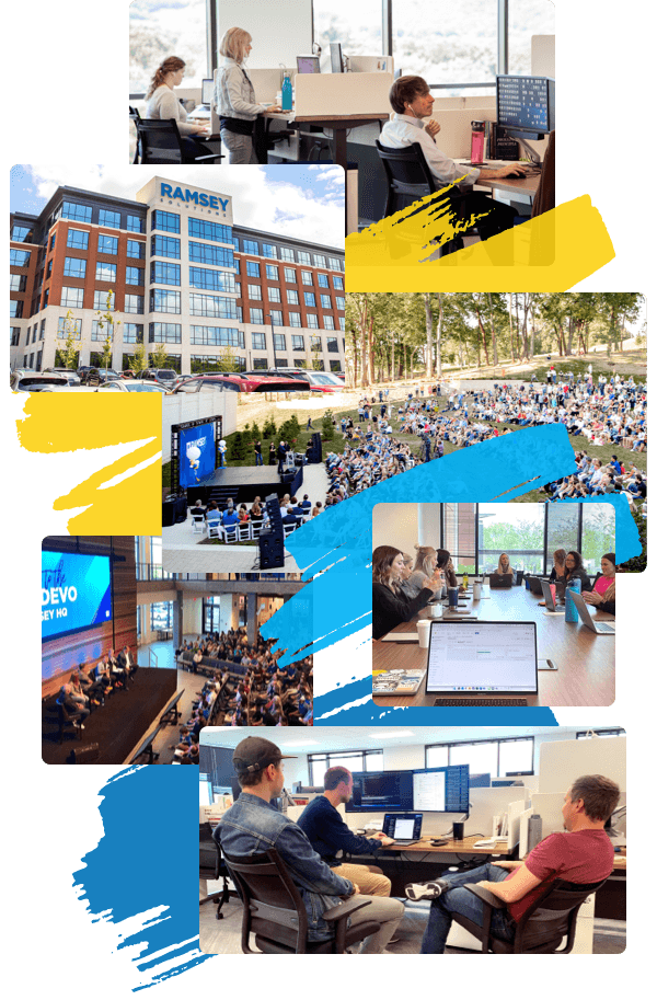 Large collage of Ramsey office photos