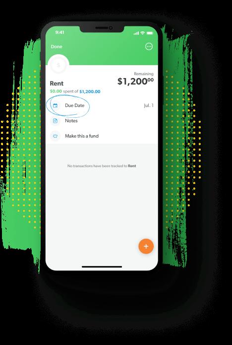 EveryDollar budgeting app due dates