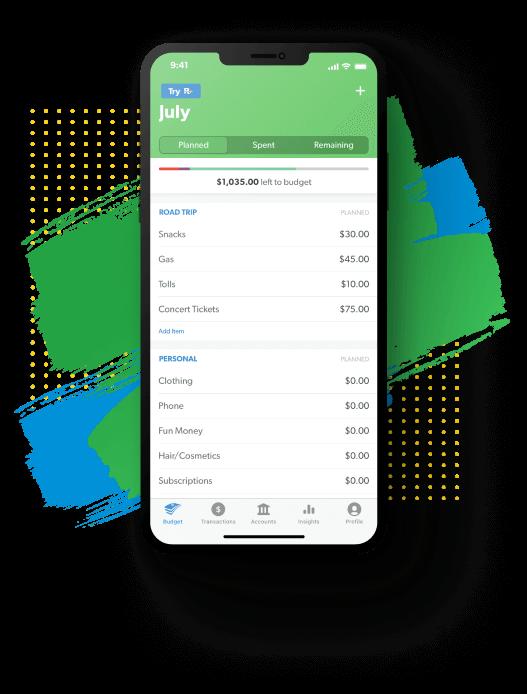 EveryDollar budgeting app budget view
