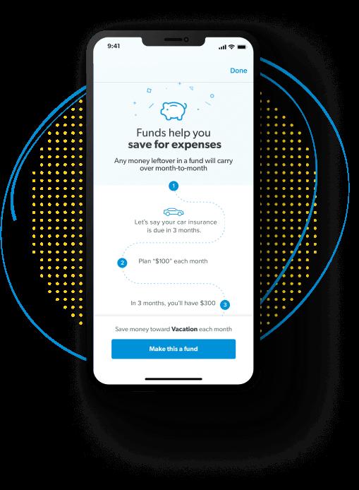 EveryDollar budgeting app funds screen