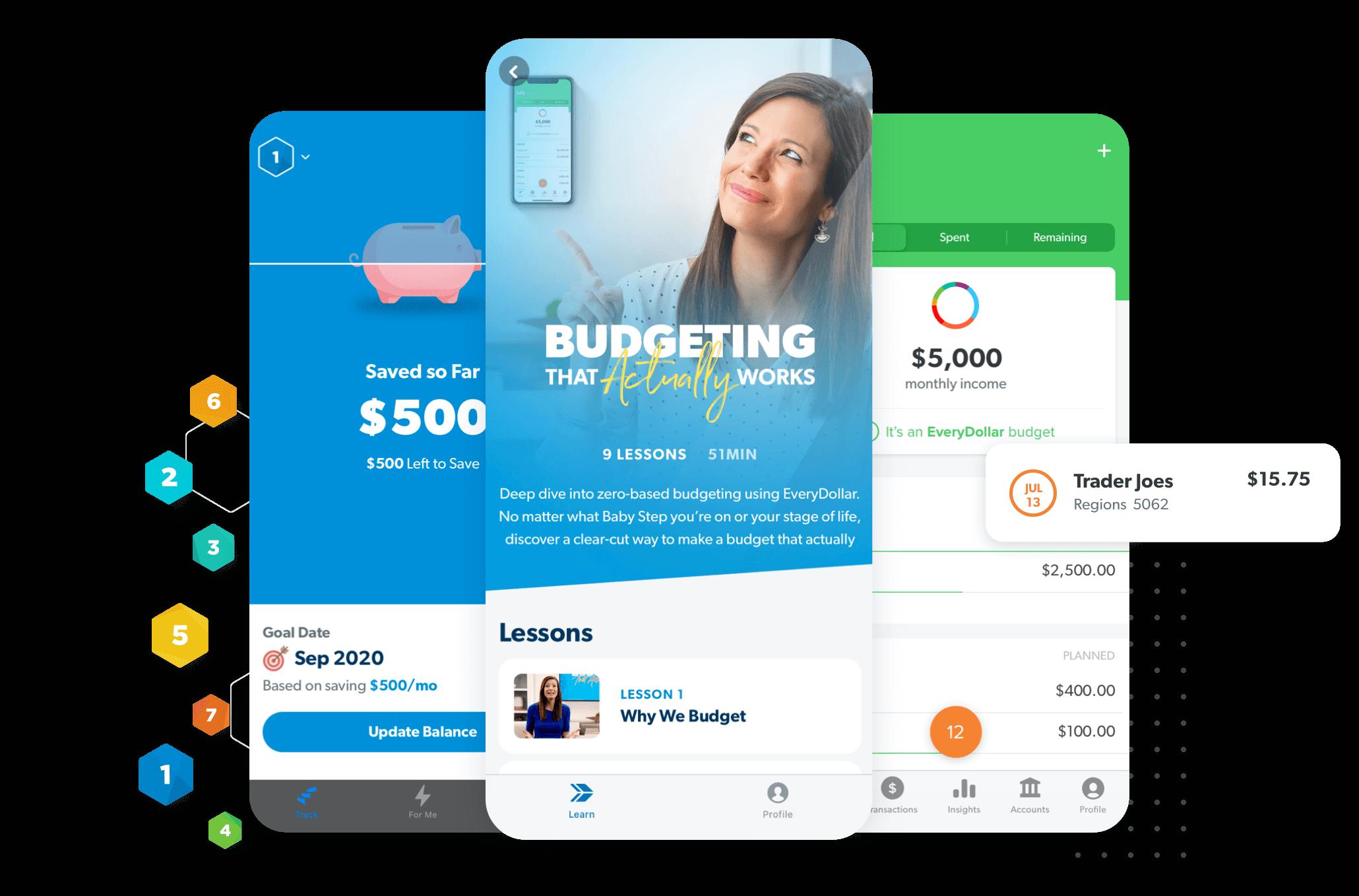 Baby Steps App, Learn App, EveryDollar App