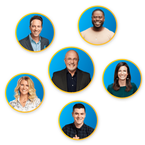 Ramsey Personalities: Dave Ramsey, Rachel Cruze, Ken Coleman, Anthony ONeal, Chris Hogan, Christy Wright and Dr. John Delony