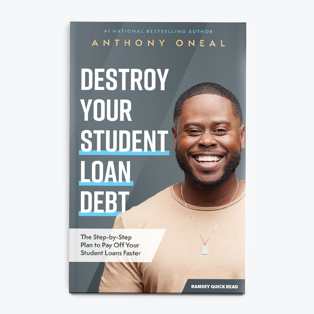 New! Destroy Your Student Loan Debt paperback Quick Read by Anthony ONeal, Ramsey Personality