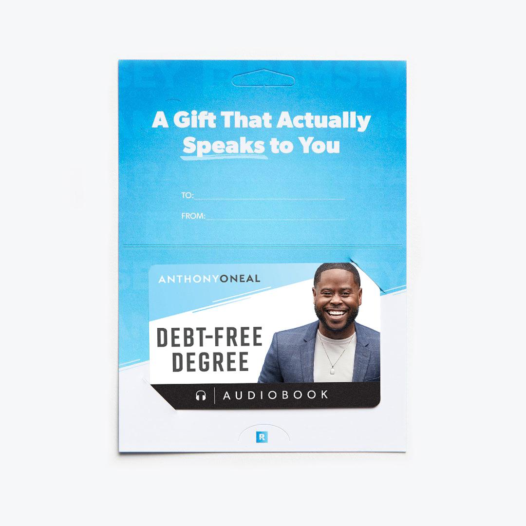 Debt-Free Degree Audiobook Gift Card