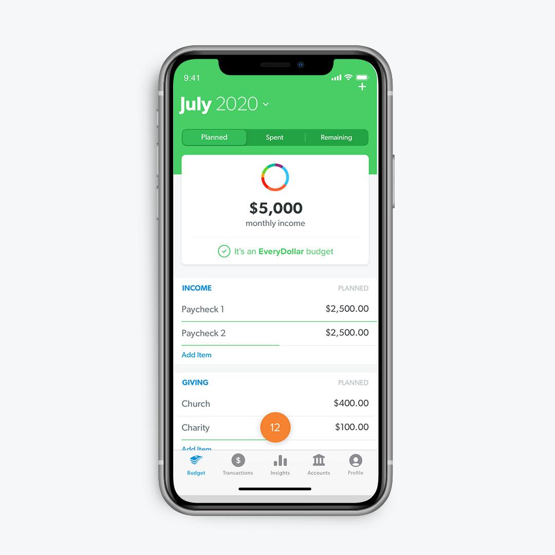 EveryDollar Budget App