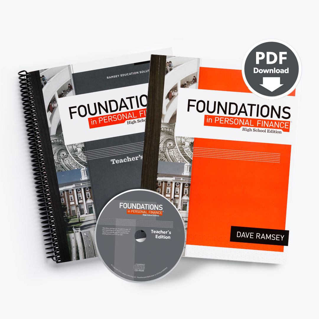 Foundations in Personal Finance: High School Teacher Pack with  Site-Licensed Printable PDF Student Text