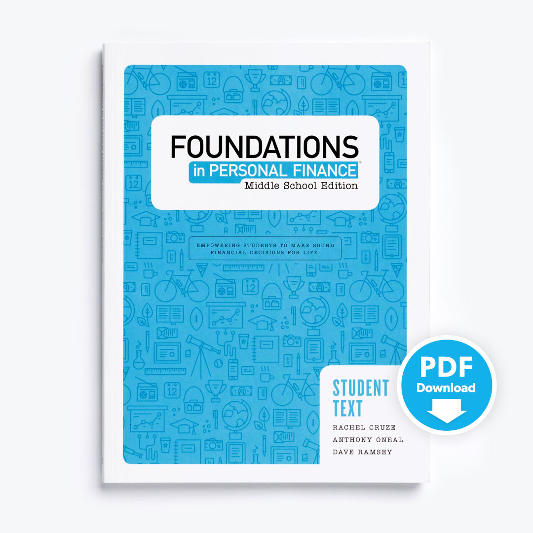 Foundations in Personal Finance: Middle School Teacher Pack with  Site-Licensed Printable PDF Student Text
