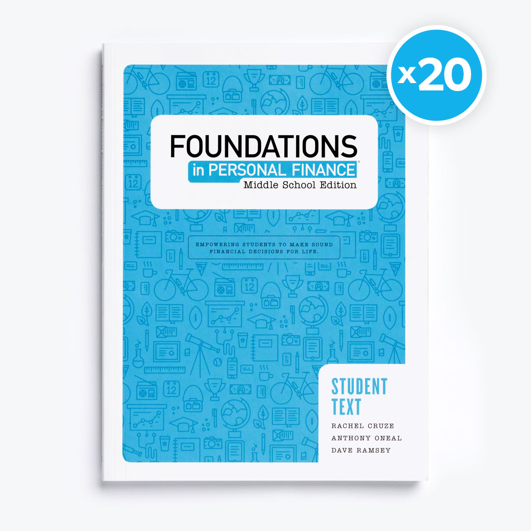 Foundations in Personal Finance: Middle School Edition Teacher Pack with 20 Student Texts