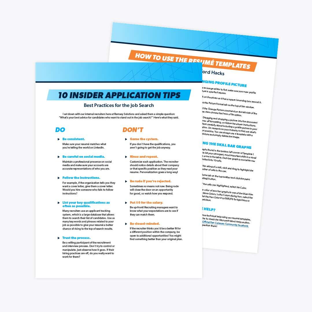 ken coleman resume templates