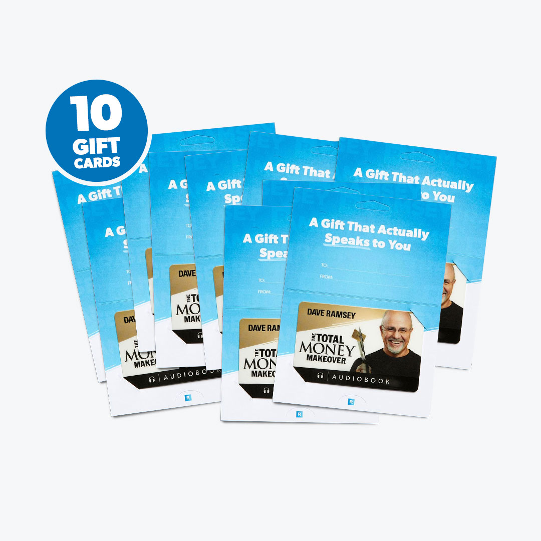 New! The Total Money Makeover - 10 Gift Card Special
