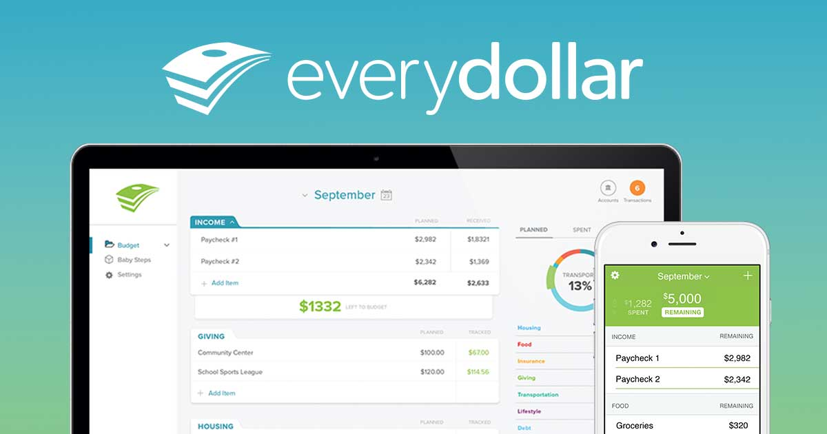 Image result for EveryDollar financial software