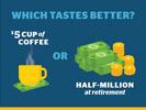 Illustration coffee retirement