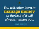 Quote manage money
