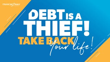 Slide - Debt is a thief.