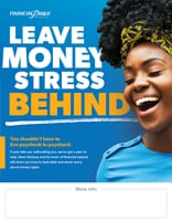 Poster - Leave money stress behind.