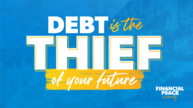 Presentation Slide - Debt is a thief.