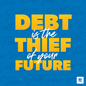 Financial Peace Social Media Post - Debt is the thief of your future.